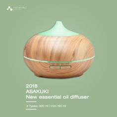 4ef17964dce 2018 ASAKUKI new essential oil diffusers. Lovely shape design with 2  types!! Do