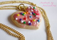 Cute Cookie Polymer Clay Necklace Kawaii Jewelry by HoriSweetShop, ¥1000
