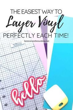 How to Layer Vinyl Perfectly Each Time - Cricut T Shirts - Ideas of Cricut T Shirts - Crafting with vinyl? Learn how to layer vinyl designs perfectly each time! Vinyle Cricut, Silhouette Cameo Tutorials, Silhouette Cameo Vinyl, Silhouette Files, Silhouette Projects, Cricut Craft Room, Cricut Fonts, Cricut Tutorials, Packaging