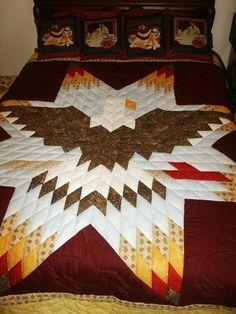 Lone Star Quilt Pattern, Star Quilt Blocks, Star Quilt Patterns, Star Quilts, Sewing Patterns, Block Patterns, Quilting Projects, Quilting Designs, Quilting Ideas