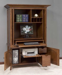 Home Office Furniture Computer Armoires | ... Amishhandcraftedheirlooms.com    /images/