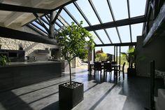 #véranda #conceptalu #armonia #verrière #salon #cuisine