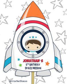Espacio cohete pdf imprimible espacio personalizado centro de