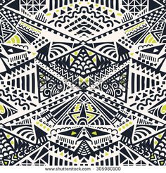 Seamless Ethnic, Tribal Pattern in vector