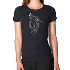 Polygonl white wolf Women's T-Shirt