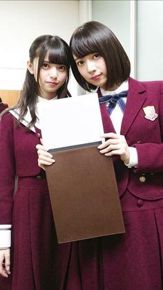 Japanese School, Japanese Girl, Two Girls, Cute Girls, Hashimoto Nanami, Saito Asuka, School Girl Outfit, Asian Girl, Beautiful Women