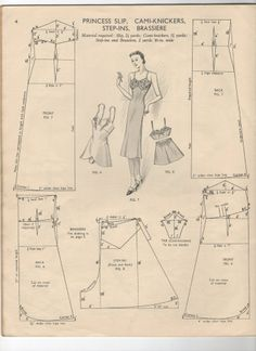 1940's undergarments  pattern draft