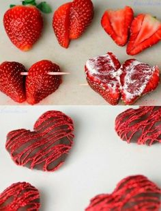 Heart Shaped Chocolate Strawberries - TGIF - This Grandma is Fun Heart Shaped Chocolate, Chocolate Hearts, White Chocolate, Chocolate Dipped, Melted Chocolate, Chocolate Fondue, Dipping Chocolate, Making Chocolate, Healthy Chocolate