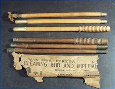 Vintage Eureka No 95 Shotgun Cleaning Rods Implements 6 Sections, Union Hardware, Torrington, Connecticut