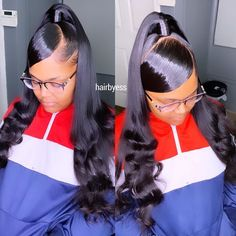 Sew In Weave Hairstyles, Quick Braided Hairstyles, Hair Ponytail Styles, Black Girl Braided Hairstyles, Sleek Hairstyles, Baddie Hairstyles, Curly Hair Styles, Natural Hair Styles, Natural Hair Ponytail