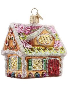 Ginger Cottage Christmas Ornament - Old World Christmas Glass | ChristmasOrnaments.com