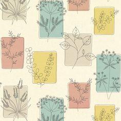Decor Little Greene Herbes Wallpaper in Cocktail - 1950s Wallpaper, Print Wallpaper, Pattern Wallpaper, Wallpaper Designs, Painting Wallpaper, Wallpaper Ideas, Easy Pencil Drawings, Little Greene Paint Company, Wallpaper Online