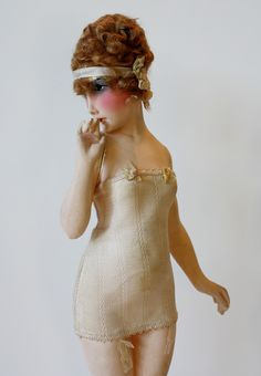 One of a Pair French 1920s Lingerie Fashion Model Mannequins