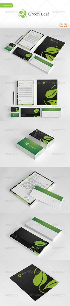 Green Leaf Corporate Identity on Behance