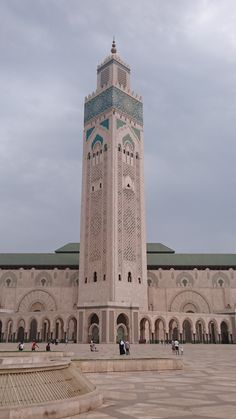 ˚Hassan II Mosque - Morocco Place Of Worship, Mosque, Pisa, Morocco, Hilarious, Tower, World, Building, Places