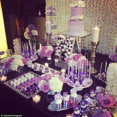 Jersey Shore's JWoww wedding. Love the purple!