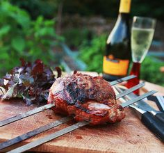 Herby barbecue butterflied lamb recipe