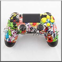 Sticker Bomb PS4 Custom Modded Controller