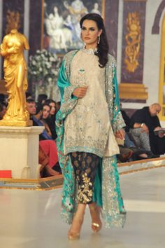Suit by Ayesha Somaya at Pantene Bridal Couture Week 2013