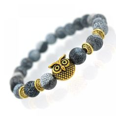 Cheap natural stone beads bracelet, Buy Quality bead bracelet directly from China stone bead bracelet Suppliers: 2017 New Owl Natural Stone Beads Bracelet & Bangle for Men Women Stretch Yoga Lava Stone Jewelry Fashion Accessories for Lovers Bracelets For Men, Fashion Bracelets, Bangle Bracelets, Link Bracelets, Owl Bracelet, Stone Bracelet, Bracelet Men, Diy Schmuck, Schmuck Design