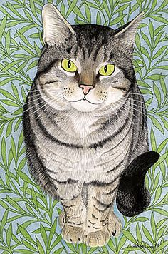 Tabby - I love the catitude of this drawing Gato Animal, Gatos Cat, Video Chat, Photo Chat, Cat Quilt, Cat Drawing, Beautiful Cats, Crazy Cats, Cool Cats