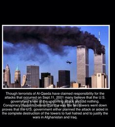 #911 Conspiracy... https://www.youtube.com/watch?v=Ud78XMy_3aE