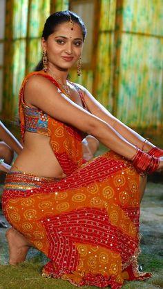 Anushka Shetty Hot Hip Navel Show In Orange Lehenga Choli South Indian Film, South Indian Actress, Actress Anushka, Bollywood Actress, Most Beautiful Indian Actress, Beautiful Actresses, Orange Lehenga, Anushka Photos, Cinema Actress