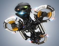 """Check out this @Behance project: """"Police heavy drone"""" https://www.behance.net/gallery/20124953/Police-heavy-drone"""