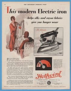 1929 Edison Electric Appliance Chicago Ontario CA Hotpoint Iron Kitchen Decor Ad