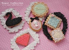 Brooch Cookies by JILL's Sugar Collection, via Flickr