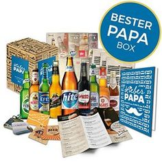 Dieses Biergeschenk ist ein tolles Geschenk für den Vatertag. Vorausgesetzt dein Vater trinkt gerne Bier. 9 besondere Bierflaschen mit Informationen, Bierdeckel, Grußkarte etc.