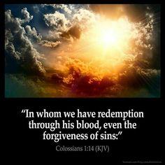 Colossians 1:14 KJV