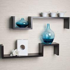 decor, shelf set, mount shelv, mount shelf, wall mount, espresso, shelv set, home office furniture, wall shelves