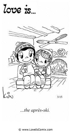 El amor es ... el después de esquiar