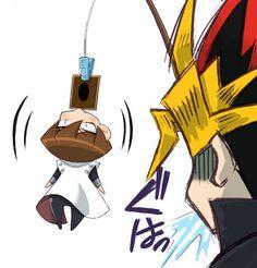 """¿cómo atrapar a Seto?  - Fácil, """"carnada"""" una carta del Dragón Blanco de ojos Azules y listo -      ~ Yami Yugi  &  Seto ~"""