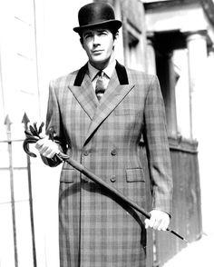 #tbt perfectly matching checks on a Huntsman overcoat #vintage bespoke overcoat