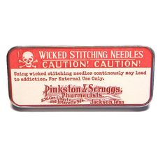 They say these wicked stitching needles are all the rage among stitchers! Just be careful though, the more you use it, the more addicted you become!  Keep all your needles in one place. This is a compact needle case or pin storage container that you can easily carry in your purse or stash bag. It is large enough to hold several needles, pins, beads, and even buttons!  A powerful Rare Earth Magnet can easily hold all your needles and pins. The magnet is loose so you can move it around within…