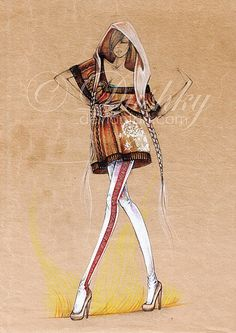 my frail collection for the 2009 Inspired Contest   based on the Slow Fashion concept and inspired by the Romanian traditional wear but mostly by the traditional fabrics, materials and techniques f...