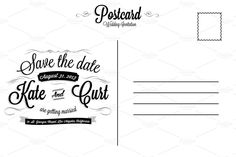 Postcard Invitation Template Free Best Of Vintage Wedding Invitation Postcard Card Templates On Free Invitation Cards, Postcard Wedding Invitation, Free Wedding Invitation Templates, Free Business Card Templates, Unique Wedding Invitations, Vintage Wedding Invitations, Templates Free, Functional Resume Template, Make Your Own Invitations