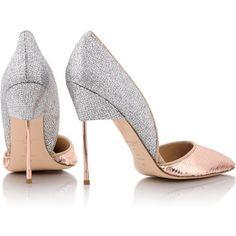 Kurt Geiger London Bond Sequin Court Shoes (€270) ❤ liked on Polyvore featuring shoes, pumps, sequin pumps, pink sequin shoes, pink high heel pumps, pink sequin pumps and high heel shoes