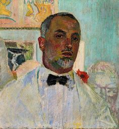 Cuno Amiet ( 1868 – 1961) was a Swiss painter, illustrator, graphic artist and sculptor. Self portrait.