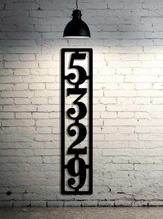Extra Large Vertical Metal House Number Address Sign - Extra Large House Numbers - Industrial - Modern - Huge Numbers