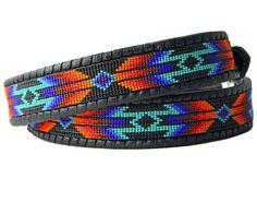 Bead Loom Designs, Beadwork Designs, Beaded Hat Bands, Beaded Belts, Custom Leather Belts, Seed Bead Patterns, Jewelry Patterns, Native Beading Patterns, Bead Loom Bracelets