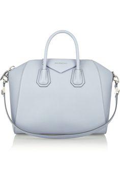 Givenchy - Medium Antigona bag in dusky-blue textured-leather