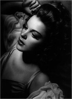 Judy Garland by George Hurrell - 1944. This striking portrait was shot 67 years ago by lighting master George Hurrell. The very dark shadows attest to the hard light used here.