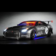 Exceed-RC-24Ghz-MadSpeed-Drift-King-Brushless-Edition-110-Electric-Ready-to-Run-Drift-Car-w-LED-Head-Lights-Grey
