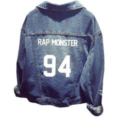 BTS Official Same Style Long Sleeve Denim Outerwear Coat Jacket ($32) ❤ liked on Polyvore featuring outerwear and jackets
