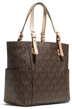 MICHAEL Michael Kors Signature Tote, Brown, one size: Handbags: Amazon.com
