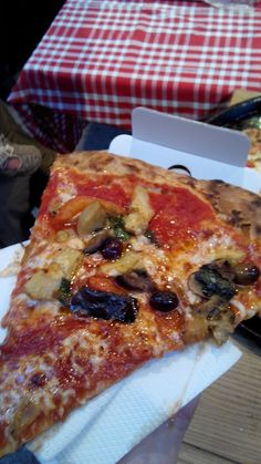 Pizza slice from Stuzzico in the old town. Living in Sin: My last two weeks in Nice in food :)