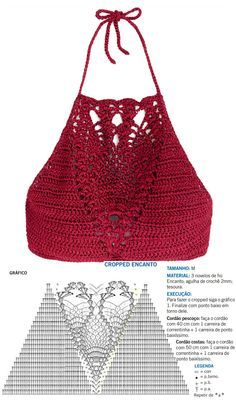 Crochet pineapple halter top graph perfect